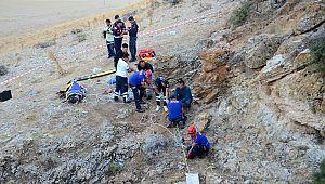 80 metrelik obruğa düştü, cesedi 5 saatte çıkarıldı