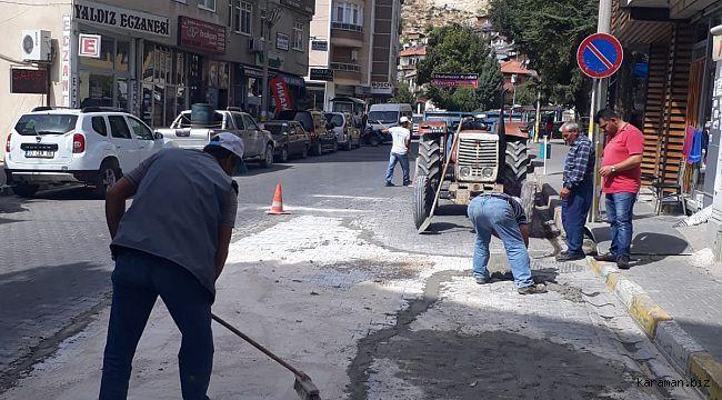 Ermenek'te doğalgaz için kazılan yerler yeniden düzenleniyor