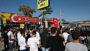 Karaman'lı gençler Barış Pınarı Hareketi için toplandı