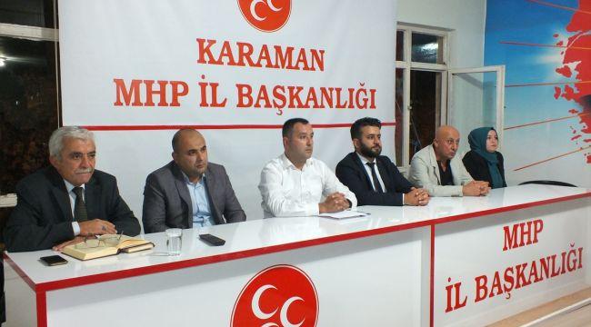 MHP Karaman İl Başkanlığı genişletilmiş istişare toplantısı yaptı