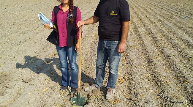 Bir başvuruyla gidip toprağınızı analiz ediyorlar. Hemde ücretsiz.