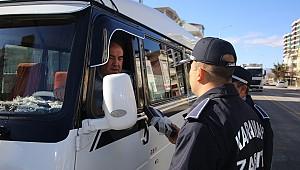 Ticari araçları polis değil zabıta durdurdu.