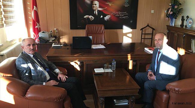 Vali Meral'den, İl Kültür ve Turizm Müdürü Yemiş'e ziyaret