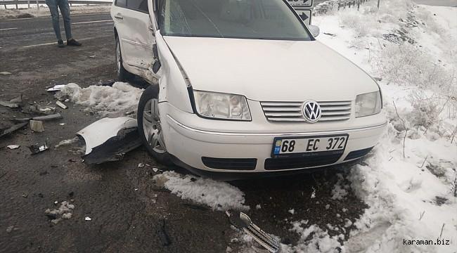 Aksaray'da yağış kazaya yol açtı: 6 yaralı