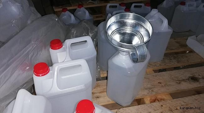 Başkentte sahte içki üretiminde kullanılan 24 ton etil alkol ele geçirildi
