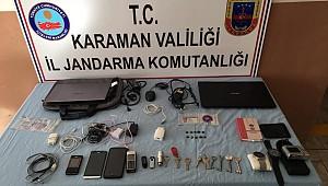 Ermenek'te okullara dadanan hırsız yakalandı