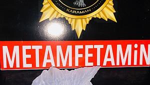Karaman'da metamfetamin'le yakalanan 2 kişi gözaltına alındı