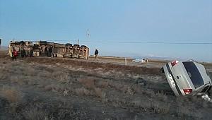 Karapınar'da 2 ayrı kazada 4 kişi yaralandı