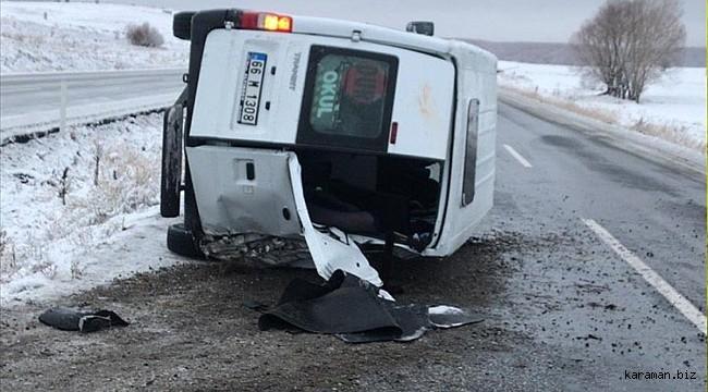 Yozgat'ta öğrenci servis minibüsü devrildi: 10 yaralı