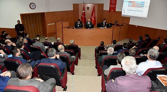 Karaman'da yılın ilk koordinasyon toplantısı yapıldı
