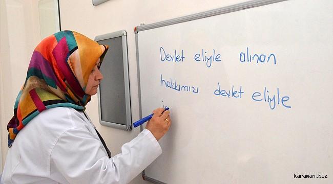 28 Şubat mağduru Karaman'lı Gülseren Öğretmen yaşadıklarını gözyaşları içinde anlattı
