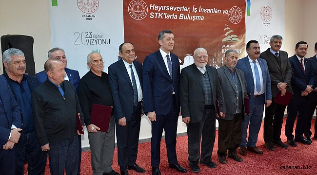 Bakan Selçuk, Karaman'da iş insanları ve STK temsilcileriyle buluştu