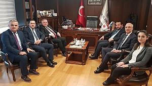 Eser,Şeker ve Akgül Türk Dil Kurumunu ziyaret etti