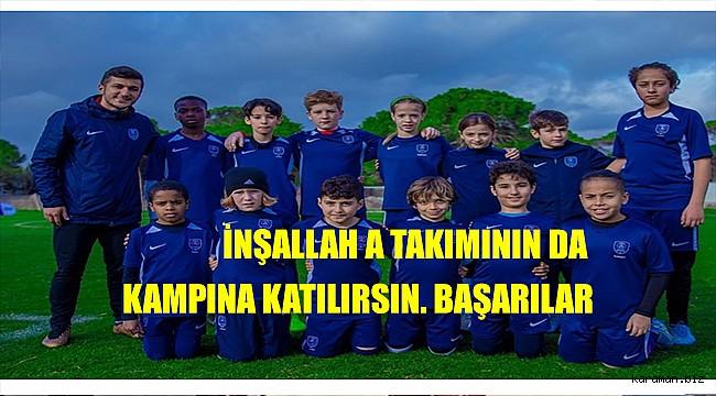 Karaman'lı genç futbolcu PSG'nin kampına katıldı