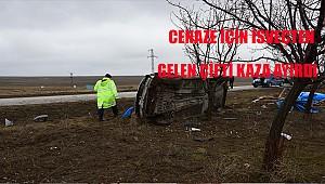 Yeğeninin cenazesi için İsveç'ten Konya'ya geldi, kazada hayatını kaybetti