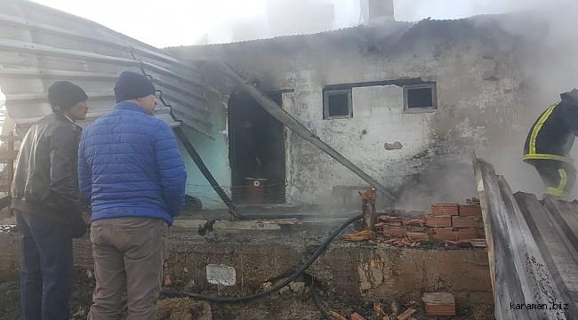 Yeşildere'de  ev yangını