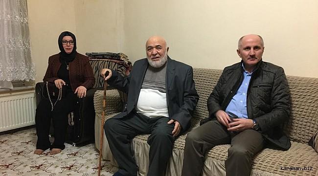 Karaman valisi Menal ve eşi Emekli Öğretmen Necati Yeniel'in konuğu oldu