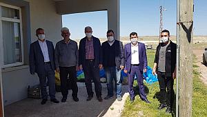 AK Parti Karaman İl Başkanı Çağlayan Köyleri ziyaret edip yardım kolisi dağıttı