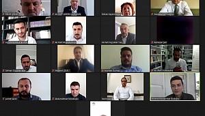 AK Parti Karaman teşkilatı diğer partilerle video konferansla bayramlaştı