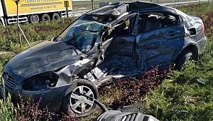 Aksaray'da otomobil ile minibüs çarpıştı: 1 ölü