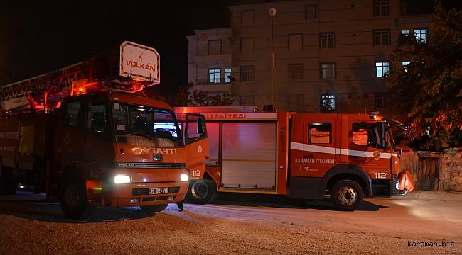 .Karaman'da çıkan yangında bir ev kullanılamaz hale geldi, fenalaşan 2 kişi tedavi edildi