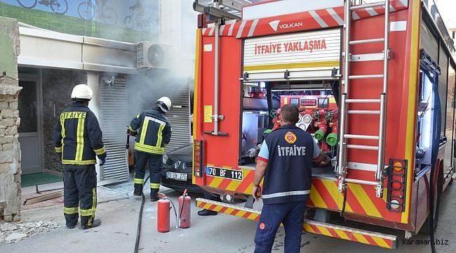 Karaman KETEM'de çıkan yangın büyümeden söndürüldü