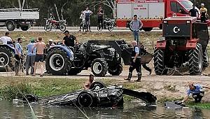 Mersin'de üzücü kaza. Su kanalına devrilen otomobildeki 3 kişi öldü