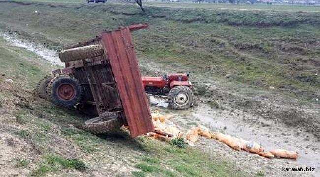 Mut'ta üzücü kaza. Devrilen traktörün sürücüsü hayatını kaybetti