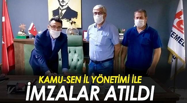 Müjde. Karaman Kamu-Sen ile Tekin Koleji arasında imzalar atıldı