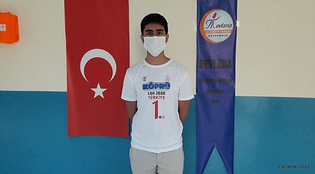 LGS birincilerinden Yiğit Emre Yıldırım, Sivas'ın gururu oldu