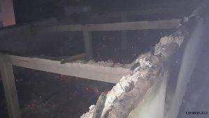 Konya'daki yangında ahırdaki 12 ton saman yandı, bir eşek telef oldu