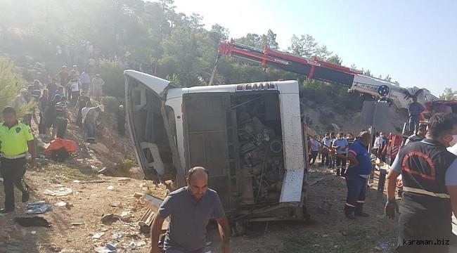 Mut'taki otobüs kazasında yaralanan 6 askerin tedavisi sürüyor