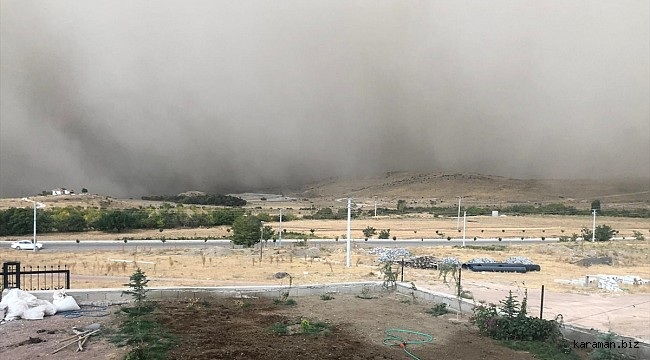 Ereğli'de oluşan toz bulutu hayatı olumsuz etkiledi