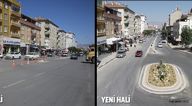 Karaman'da kavşaklar artık daha kullanışlı oluyor