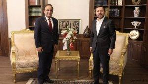 Nevşehir Belediye Başkanı Arı, Dominik Cumhuriyeti'nin Ankara Büyükelçisi Serulle'yi ağırladı