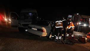 İkinci organize yolunda trafik kazası: yaralılar var