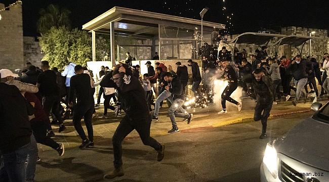 İsrail Kudüs'te teravih namazını kana buladı: 105 kişi yaralandı