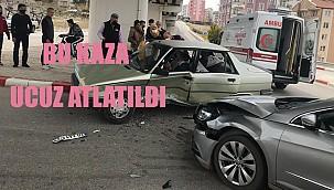Otomobile sıkışan sürücüyü 112 ekipleri kurtardı