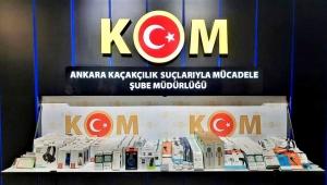 Başkentte sigara, tütün ve elektronik eşya kaçakçılığı yaptıkları iddiasıyla 16 şüpheli gözaltına alındı