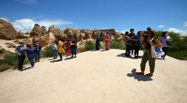 Kapadokya hafta sonu günübirlik tatilcileri ağırladı