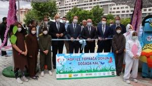 """Konya'da """"KOP ile Toprağa Dokun Doğada Kal Projesi""""nin açılış töreni yapıldı"""