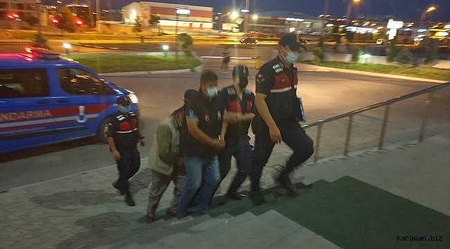 Taksirle adam öldürmeden aranıyordu, Karaman Jandarması yakaladı