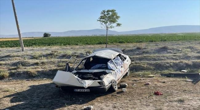Konya'da otomobil şarampole devrildi: 1 ölü, 3 yaralı