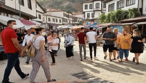 Beypazarı'nda hafta sonunda ziyaretçi yoğunluğu yaşandı