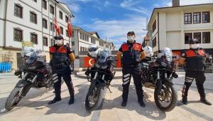 Beypazarı'nda motosikletli polis timi göreve başladı
