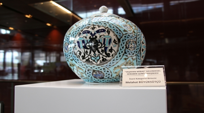 """Konya'da """"Yaşayan Miras Ulusal Çini Yarışması""""nın kazananları belli oldu"""