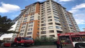 Kayseri'de çıkan ev yangını söndürüldü